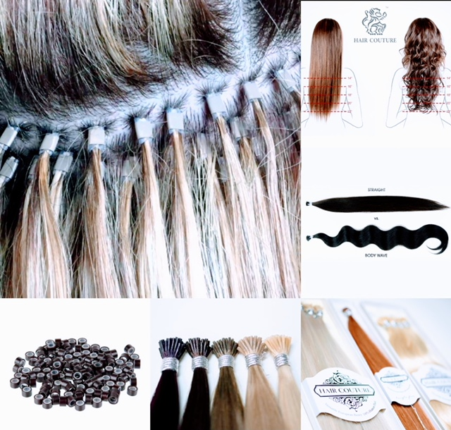 Integrated Glue Hair Extension System